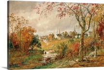 Autumn Landscape, Saugerties, 1886 (oil on canvas)