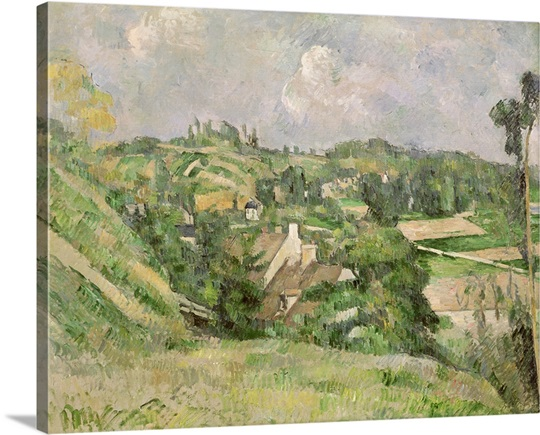 Auvers sur Oise, seen from the Val Harme, 1879 82 (oil on canvas)
