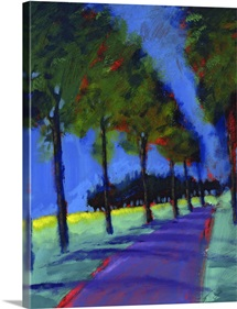 Avenue, 2008 (acrylic on board)
