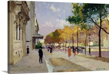 Avenue Montaigne, Paris (oil on canvas)