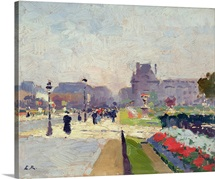 Avenue Paul Deroulede, Tuileries, Paris (oil on canvas)