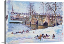 Bakewell Bridge, 1998 (gouache)