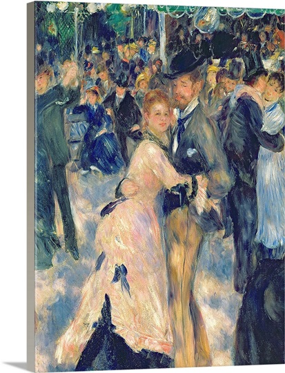 Ball at the Moulin de la Galette, 1876 (oil on canvas) (detail of 36481)