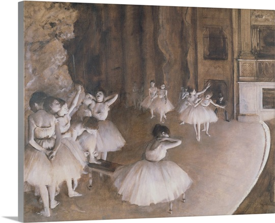 Ballet Rehearsal on the Stage, 1874 (oil on canvas)
