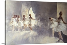 Ballet Studio (oil on canvas)