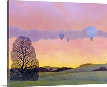 Balloon Race, 2004 (oil on canvas)