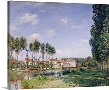 Banks of the Loing, Moret, 1892 (oil on canvas)