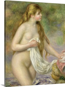 Bather with long hair, c.1895 (oil on canvas)