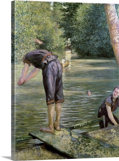 Bathers on the banks of the yerres 1878 photo canvas for Design your own bathers