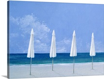 Beach umbrellas, 2005 (acrylic on paper)