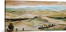 Belvedere, Tuscany, 2001 (oil on canvas)