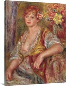Blonde Woman with a Rose, c.1915 (oil on canvas)