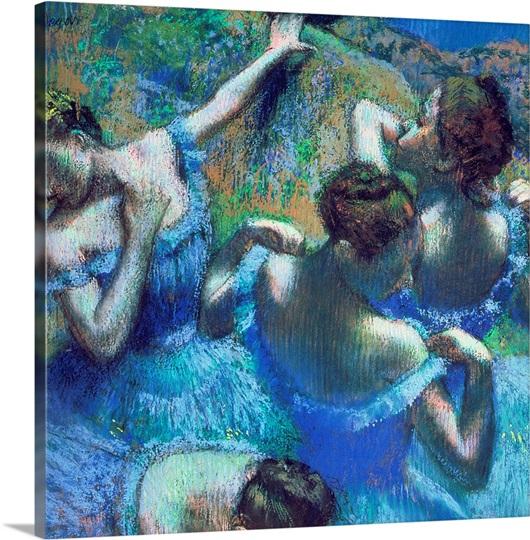 Blue Dancers, c.1899 (pastel)