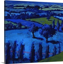 Blue landscape, 2009 (acrylic on board)