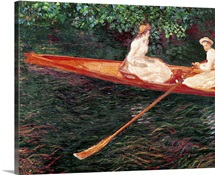 Boating on the river Epte, c.1889 1890 (oil on canvas)