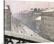 Boulevard Haussmann in the Snow, 1879 or 1881