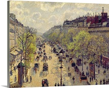 Boulevard Montmartre, Spring, 1897 (oil on canvas)
