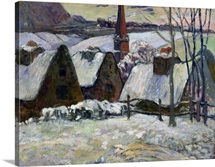 Breton village under snow, 1894 (oil on canvas)
