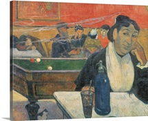 Cafe at Arles, 1888 (oil on canvas)