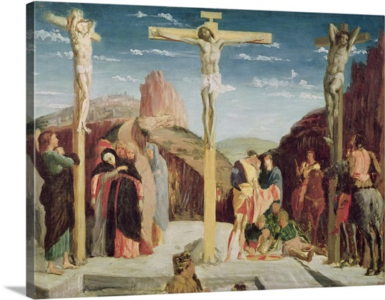 Calvary, after a painting by Andrea Mantegna (1431 1506) (oil on canvas)