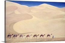 Camel Train (oil on canvas)