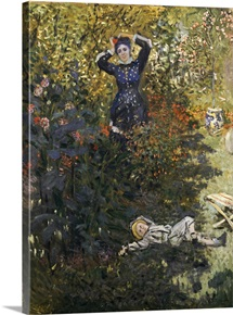 Camille and Jean in the Garden at Argenteuil (oil on canvas)
