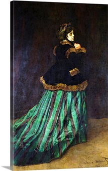 Camille, or The Woman in the Green Dress, 1866 (oil on canvas)
