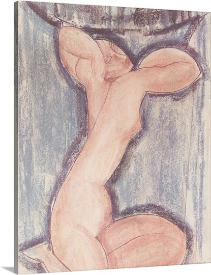 Caryatid (pastel on paper)