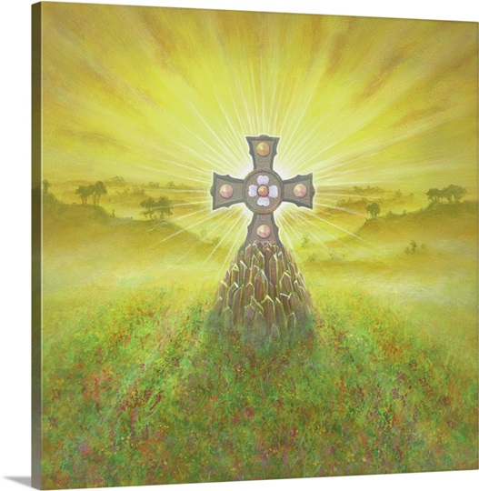 Celtic Cross (acrylic on canvas)