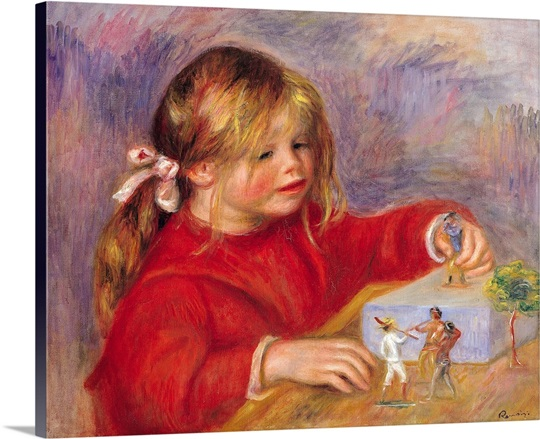 Claude Renoir (b.1901) at Play, 1905 (oil on canvas)