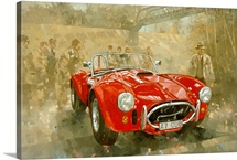 Cobra at Brooklands (oil on canvas)