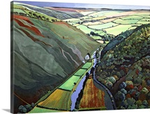 Coombe Valley Gate, Exmoor, 2009 (acrylic on canvas)