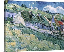 Cottages at Auvers sur Oise, 1890 (oil on canvas)