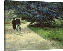 Couple in the Park, Arles, 1888 (oil on canvas)