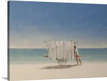 Cuba Beach Seller, 2010 (acrylic on canvas)