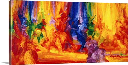 Dance 1, 2000 (oil on board)