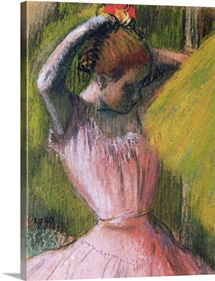 Dancer arranging her hair, c.1900-12 (pastel on paper)