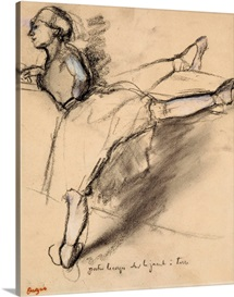 Dancer at the bar (chalk on paper)