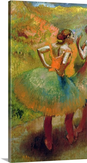 Dancers Wearing Green Skirts, c.1895 (oil on canvas)