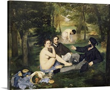 Dejeuner sur lHerbe, 1863 (oil on canvas) (see also 65761)