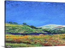 Derbyshire landscape, 1999 (oil on board)
