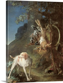 Dog and Game, 1730 (oil on canvas)
