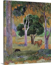 Dominican Landscape or, Landscape with a Pig and Horse, 1903 (oil on canvas)