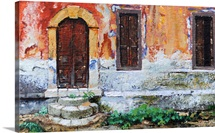 Doorway, Corfu, 2006 (oil on paper)