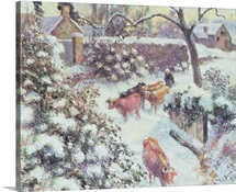 Effet de Neige a Montfoucault, 1882 (oil on canvas)