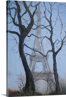 Eiffel Tower, 2010 (oil on canvas)