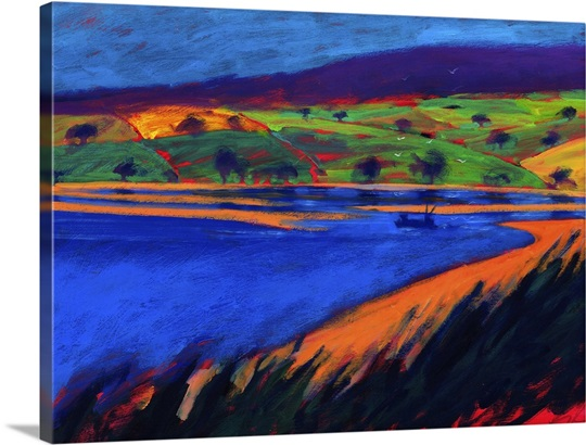 Estuary, 2007 (acrylic on board)