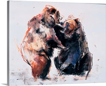 European Brown Bears, 2001 (charcoal