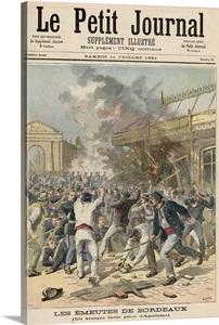 Events in bordeaux burning a kiosk in place d 39 aquitaine from 39 le pe - Les petits hauts bordeaux ...