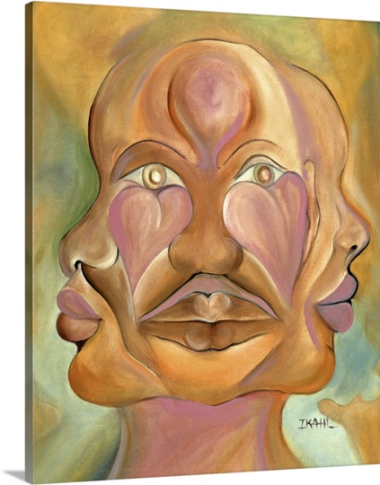 Faces of Copulation (oil on canvas)
